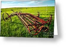 Vintage Farm Equipment I - Blue Ridge Greeting Card by Dan Carmichael