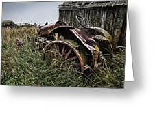 Vintage Farm Tractor Color Greeting Card