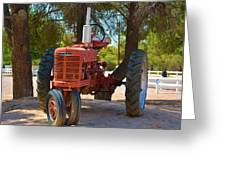 Vintage Farmall Tractor Greeting Card