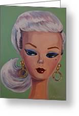 Vintage Fashion Doll Series  Greeting Card by Kelley Smith