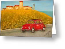 Vintage Fiat 500 Greeting Card
