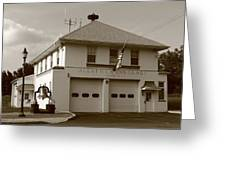 Congers, New York - Vintage Firehouse Greeting Card