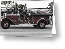 Vintage Firetruck  Greeting Card