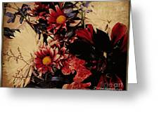Vintage Floral Beauty  Greeting Card