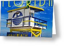 Vintage Florida Travel Style Artwork Greeting Card