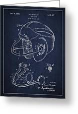 Vintage Football Helment Patent Drawing From 1935 Greeting Card by Aged Pixel