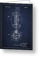 Vintage Football Patent Drawing From 1923 Greeting Card