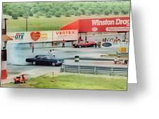Vintage Ford Drag Racing Greeting Card