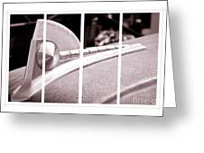 Vintage Ford Hood Ornament - Panel Series 2 Of 3 Greeting Card
