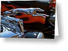 Vintage Ford Lincoln Hood Ornament Greeting Card