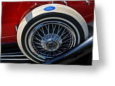 Vintage 1931 Ford Phaeton Spare Tire Greeting Card