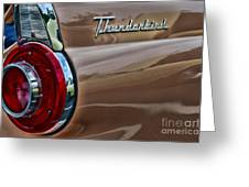 Vintage Ford Thunderbird Greeting Card