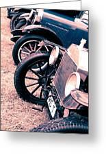 Vintage Fords Greeting Card by Phil 'motography' Clark