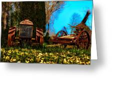 Vintage Fordson Tractor Greeting Card