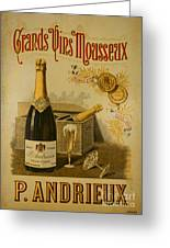 Vintage French Poster Andrieux Wine Greeting Card