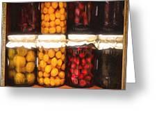 Vintage Fruit And Vegetable Preserves II Greeting Card