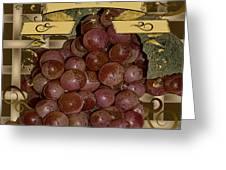 Vintage Fruit Of The Vine Greeting Card