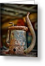 Vintage Garage Oil Can Greeting Card