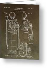 Vintage Gas Pump Patent Greeting Card