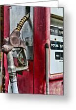 Vintage Gas Pump Greeting Card