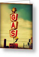 Vintage Gas Sign Greeting Card