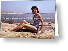 Vintage Glamour Quote Greeting Card