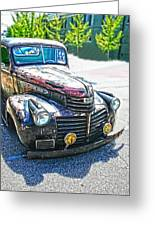 Vintage Gm Truck Frontal Hdr Greeting Card