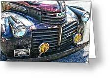 Vintage Gm Truck Hdr 2 Grill Art Greeting Card