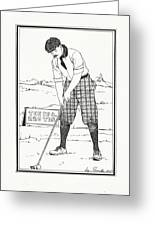 Vintage Golfer 1900 Greeting Card