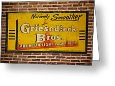 Vintage Griesedieck Bros Beer Dsc07192 Greeting Card