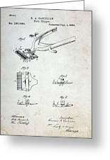 Vintage Hair Clippers Patent Greeting Card