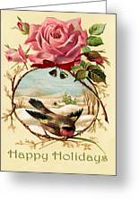 Vintage Happy Holidays Greeting Card