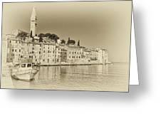 Vintage Harbor Greeting Card