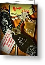 Vintage Hotel Keys Greeting Card