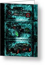 Vintage Hotrods Greeting Card