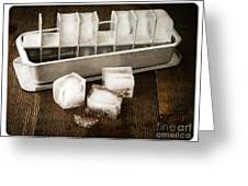Vintage Ice Cubes Greeting Card by Edward Fielding
