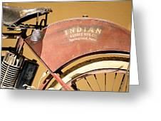 Vintage Indian Bike Greeting Card