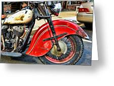 Vintage Indian Motorcycle - Live To Ride Greeting Card