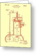 Vintage Internal Combustion Engine Patent 1940 Greeting Card