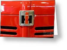 Vintage International Harvester Tractor Badge Greeting Card