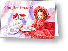 Vintage Invitation Greeting Card