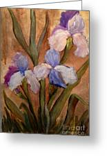 Vintage Iris Greeting Card