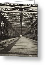 Vintage Iron Truss Bridge Greeting Card