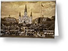 Vintage Jackson Square Greeting Card