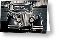 Vintage Jaguar 1950s Greeting Card
