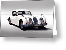 Vintage Jaguar Coupe Greeting Card