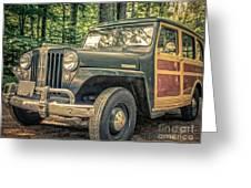 Vintage Jeep Station Wagon Greeting Card