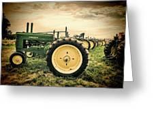 Vintage John Deere Tractors Greeting Card