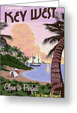Vintage Key West Travel Poster Greeting Card