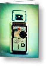 Vintage Kodak Brownie Movie Camera Greeting Card